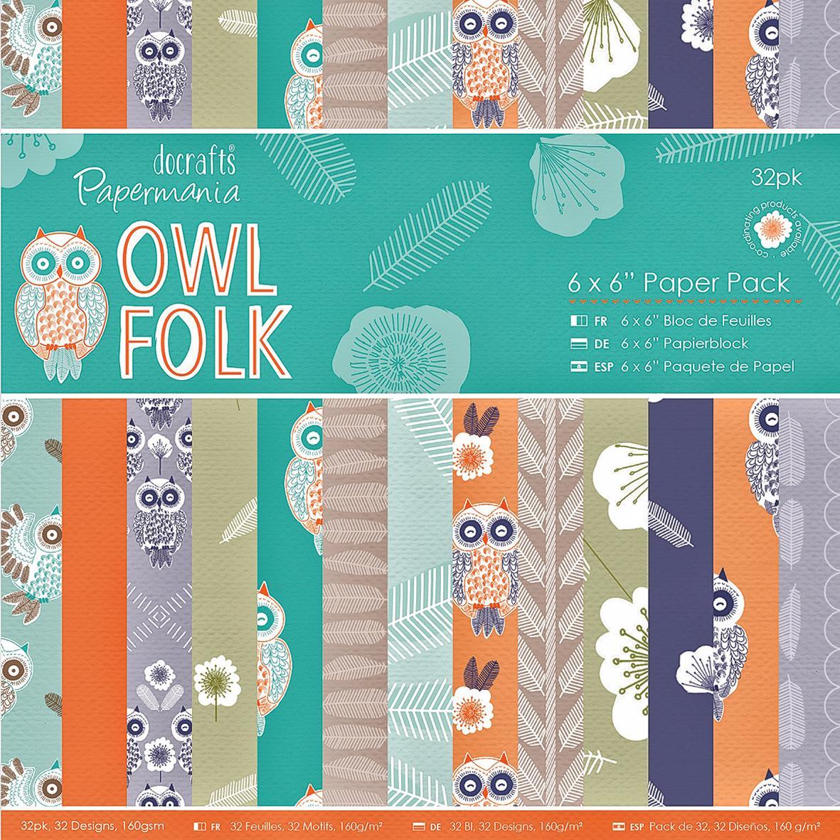 collection de papier owl folk loisirs cr atifs vbs hobby. Black Bedroom Furniture Sets. Home Design Ideas