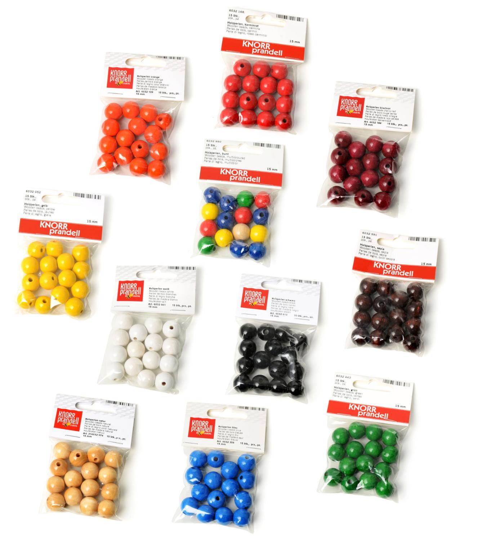 perles en bois 15 mm loisirs cr atifs vbs hobby. Black Bedroom Furniture Sets. Home Design Ideas