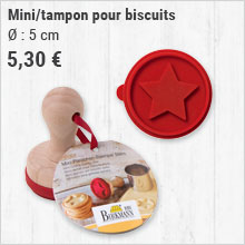 Mini/tampon pour biscuits
