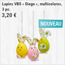 Lapins VBS « Diego », multicolores, 3 pc.