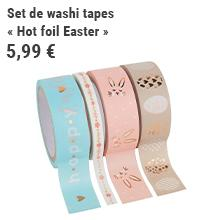 Set de washi tapes « Hot foil Easter »