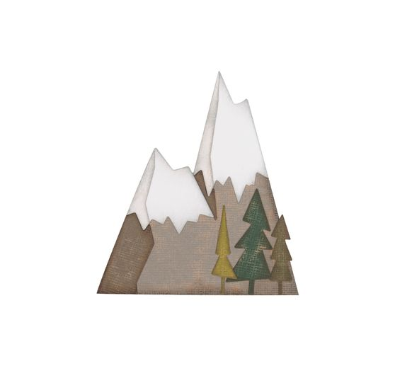 Gabarit d'estampe Sizzix Thinlits « Alpine by Tim Holtz »