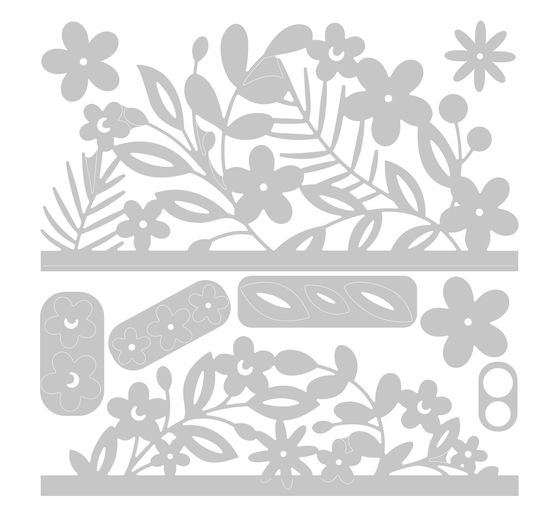 Gabarit d'estampe Sizzix Thinlits « Floral Edges 2 »