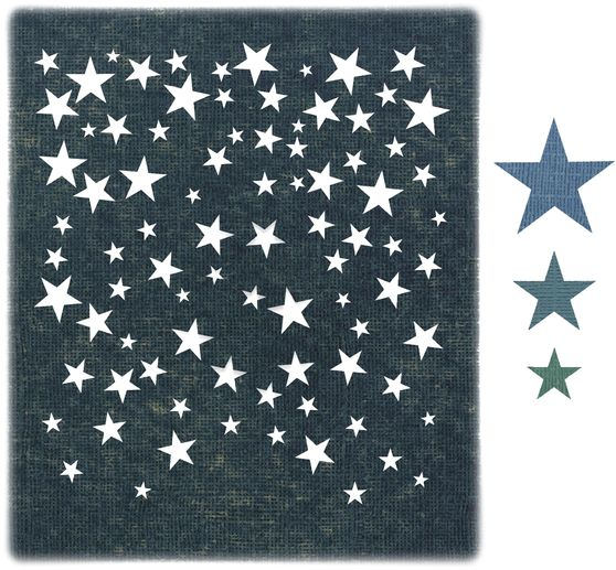 Gabarit d'estampe Sizzix Thinlits « Falling Stars by Tim Holtz »