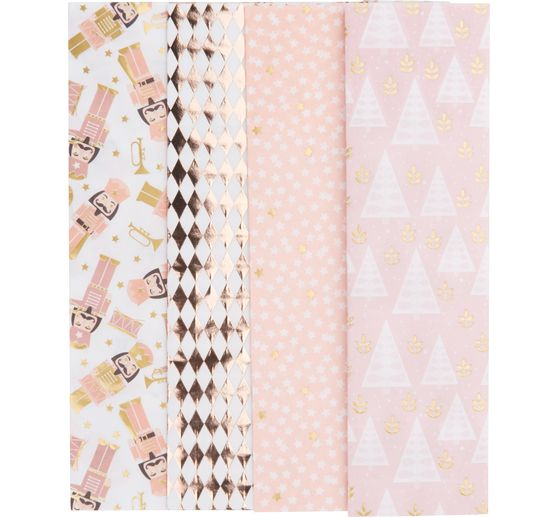 Décopatch Pocket Hot foil Collection « Noël Rose pastel »