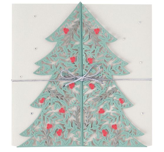 Gabarit d'estampe Sizzix Thinlits « Christmas Tree Card »