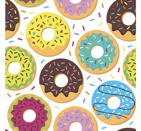 Serviette « Donuts multicolores »