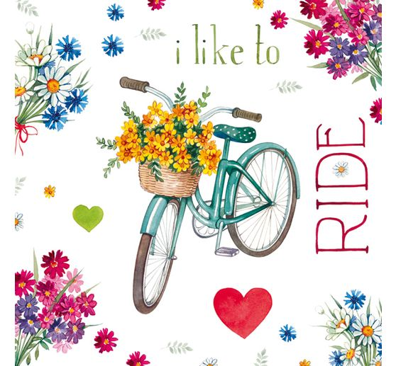 Serviette « I like to ride »