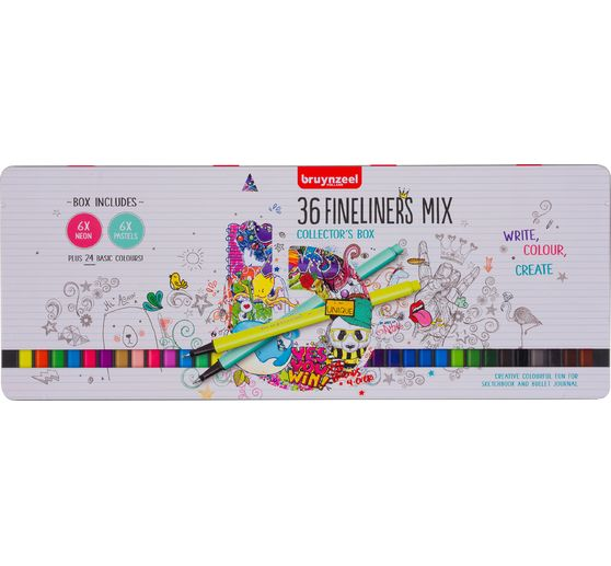 Set de fineliners Bruynzeel, 36 couleurs