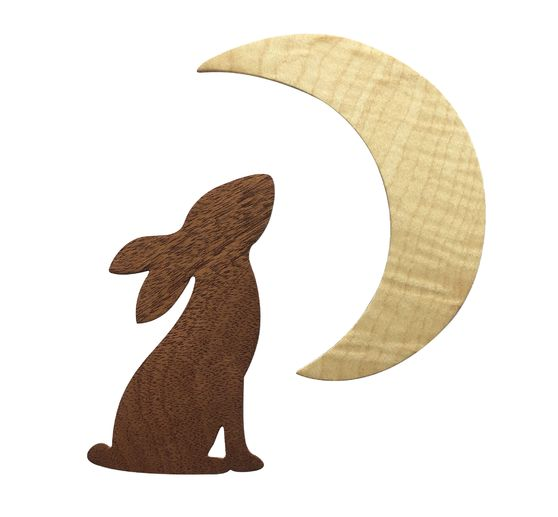 Gabarit d'estampe Sizzix Bigz « Rabbit & Moon »