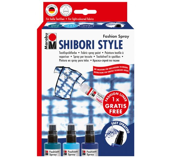 Set de spray Marabu Fashion « Shibori », 3 x 100 ml