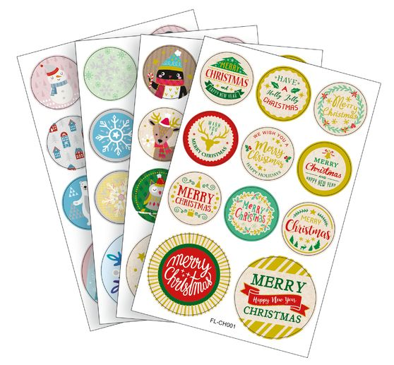 Stickers ronds « Période de Noël », 44 pc.