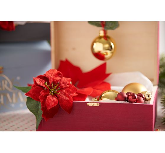 Bouquet de poinsettias VBS, Rouge carmin, 5 pc.