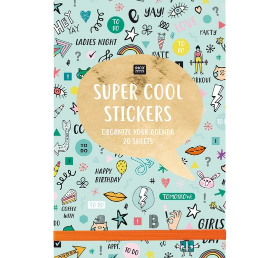 Carnet de stickers « Super cool stickers », 20 feuilles, 11x16,5 cm