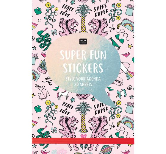 Carnet de stickers « Super fun stickers », 20 feuilles, 11x16,5 cm