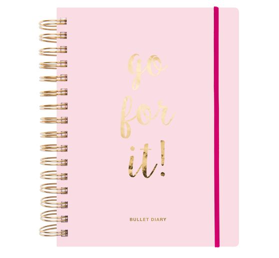Carnet Bullet journal « go for it! », 196 pages, 16,5 x 21,5 cm