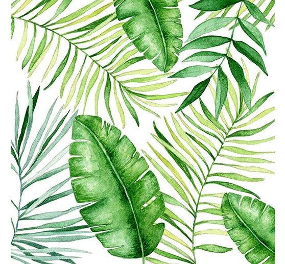 Serviette « Jungle Leaves »