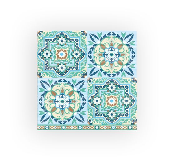 Serviette « Tiles Green »