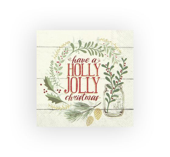 Serviette « Holly Jolly Christmas »