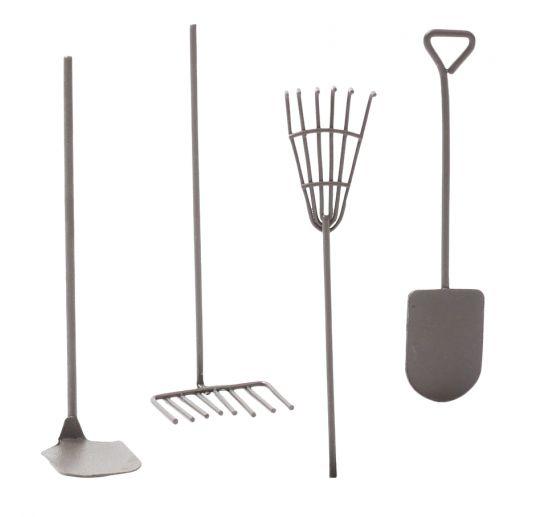 Mini-outils de jardin, 4 pc.